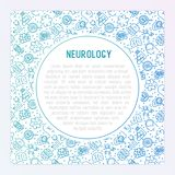 stock image of  neurology concept with thin line icons
