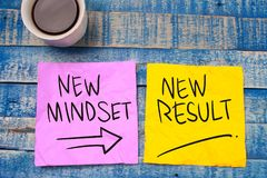 stock image of  new mindset new result. self development