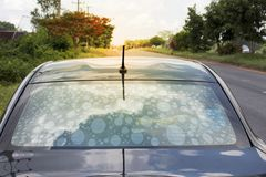 stock image of  non-standard auto-exposure glass filters cause bubbles to interfere with vision
