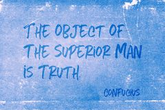 stock image of  object is truth confucius