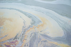 stock image of  oil water pollution