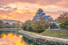 stock image of  okayama castle in autumn season in okayama city, japan