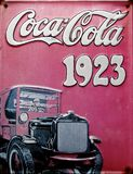 stock image of  old advert - coca cola 1923