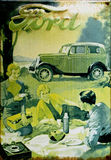stock image of  old advert - ford