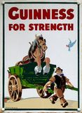 stock image of  old advert - guinness