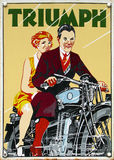 stock image of  old advert - triumph