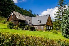 stock image of  old house in the woods