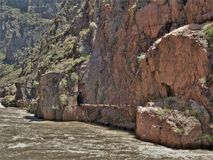 stock image of  old pipeline in royal gorge
