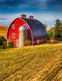stock image of  red barn
