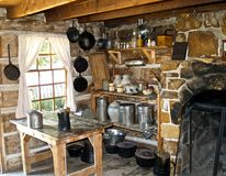stock image of  old west kitchen