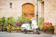 stock image of  one of the most popular transport in italy, vintage vespa