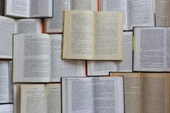 stock image of  open books top view. library and literature concept. education and knowledge background.