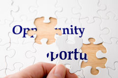 stock image of  opportunity puzzle