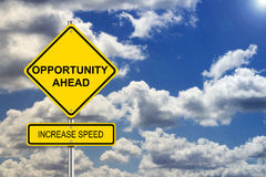 stock image of  opportunity roadsign