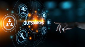 stock image of  outsourcing human resources business internet technology concept