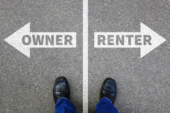 stock image of  owner renter rent own ownership rental purchase real estate house apartment concept
