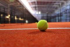 stock image of  indoor paddle tenis a court