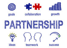 stock image of  partnership info graphic