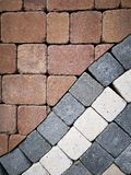 stock image of  paving stones - different colours