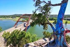 stock image of  pennybacker bridge or 360 bridge an austin texas landmark