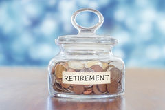 stock image of  pension savings