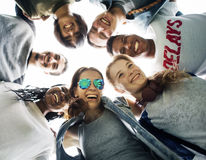 stock image of  people friendship togetherness huddle team unity concept