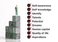 stock image of  personal development skill concept
