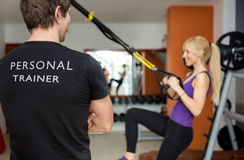 stock image of  personal trainer