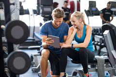 stock image of  personal trainer with woman