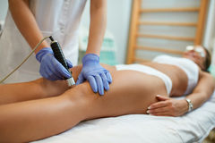 stock image of  physical therapy of the knee