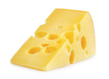 stock image of  piece of cheese isolated