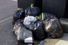 stock image of  pile of garbage bags