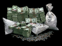 stock image of  pile of money