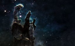 stock image of  pillars of creation. deep space. beautiful cosmic landscape. elements of the image are furnished by nasa