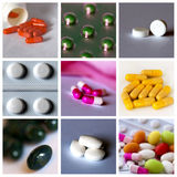 stock image of  pills collage