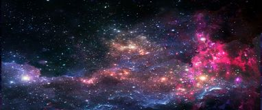 stock image of  planets and galaxies, science fiction wallpaper. beauty of deep space.