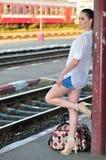 stock image of  on platform