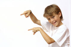 stock image of  pointing