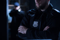 stock image of  police officers on the intervention