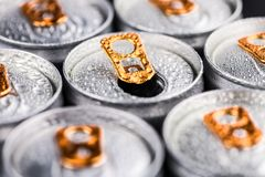 stock image of  portion of energy drinks, selective focus