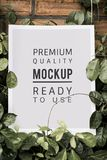 stock image of  poster mockup premium advertisement decoration