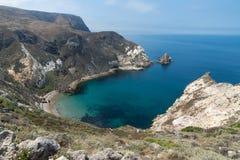 stock image of  summer destination: potato harbor, santa cruz island, channel islands national park