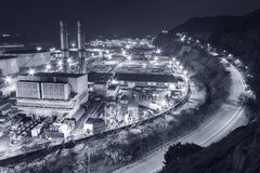 stock image of  power station at night