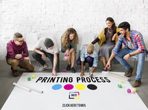 stock image of  printing process offset ink color industry media concept
