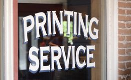 stock image of  printing service
