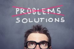 stock image of  problems and solutions