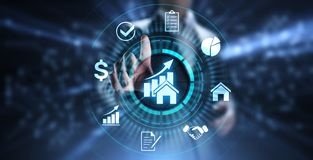 stock image of  property management is the operation, control, and oversight of real estate. business concept.