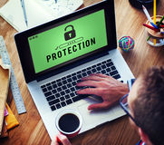 stock image of  protection confidentiality insurance privacy concept