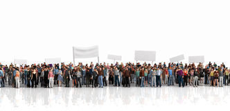 stock image of  protest of crowd.
