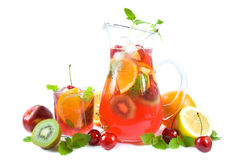 stock image of  punch with fruits